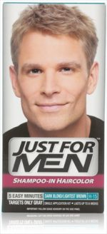 Just For Men Shampoo-In Hair Color Dark Blond & Lightest Brown H-15