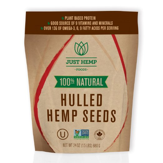 Just Hemp Foods 261886 Hulled Hemp Seeds 24 oz.