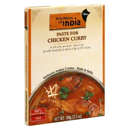 KITCHENS OF INDIA PASTE CURRY CHKN-3.5 OZ -Pack of 6