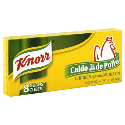 KNORR BOUILLON CUBE HSP CHKN 8C-3.1 OZ -Pack of 24