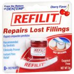 Kinray-Cardinal Health KY972471 0.07 oz Refilit Denture Filling Material Cherry Flavor