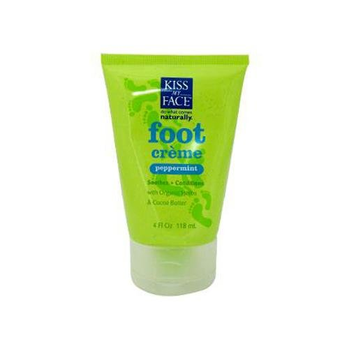 Kiss My Face 0847293 Foot Creme Peppermint 4 oz