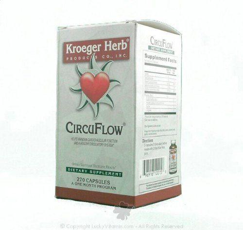 Kroeger Herb 0419929 CircuFlow Capsules 270 Count