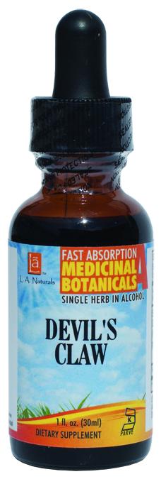 LA Naturals 1133991 1 oz Devils Claw Organic Medical Liquid