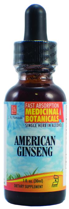 LA Naturals 1134121 1 oz Ginseng American Organic Organic Welness Liquid