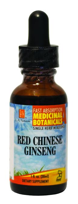 LA Naturals 1134131 1 oz Red Chinese Ginseng Organic Welness Liquid