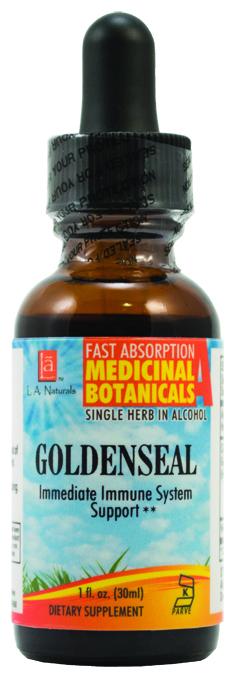 LA Naturals 1134151 1 oz Goldenseal Organic Welness Liquid