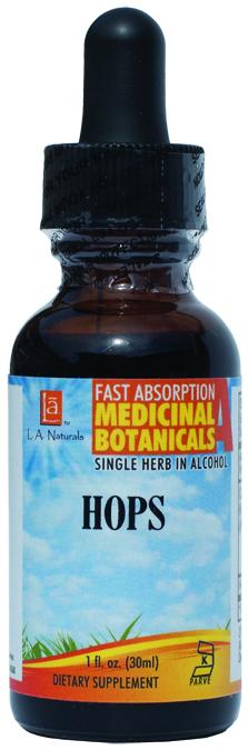 LA Naturals 1134181 1 oz Hops Medical Organic Liquid