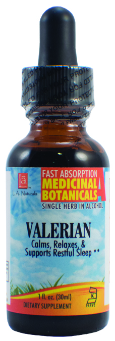 LA Naturals 1134571 1 oz Valerian Organic for Calms Relaxes & Restful Sleep