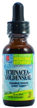 LA Naturals 1134741 1 oz Echinacea Goldenseal for Immediate immune System Support