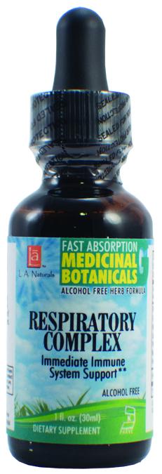 LA Naturals 1136301 1 oz Respiratory Complex Glycerine for Immediate Immune System Support