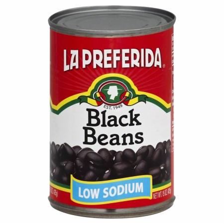 LA PREFERIDA 99819 Low Sodium Black Beans - 15 oz.