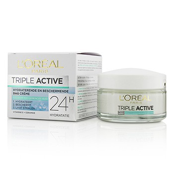 LOreal 213613 1.7 oz Triple Active Multi-Protective Day Cream 24H Hydration for Normal & Combination Skin