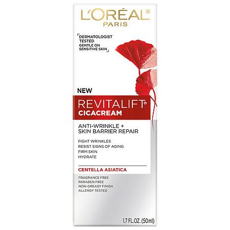 L'Oreal Paris Revitalift Cicacream Anti-Wrinkle + Skin Barrier Repair - 1.7 oz.