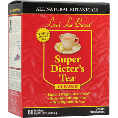 Laci Le Beau 0260927 Super Dieters Tea All Natural Botanicals - 60 Tea Bags