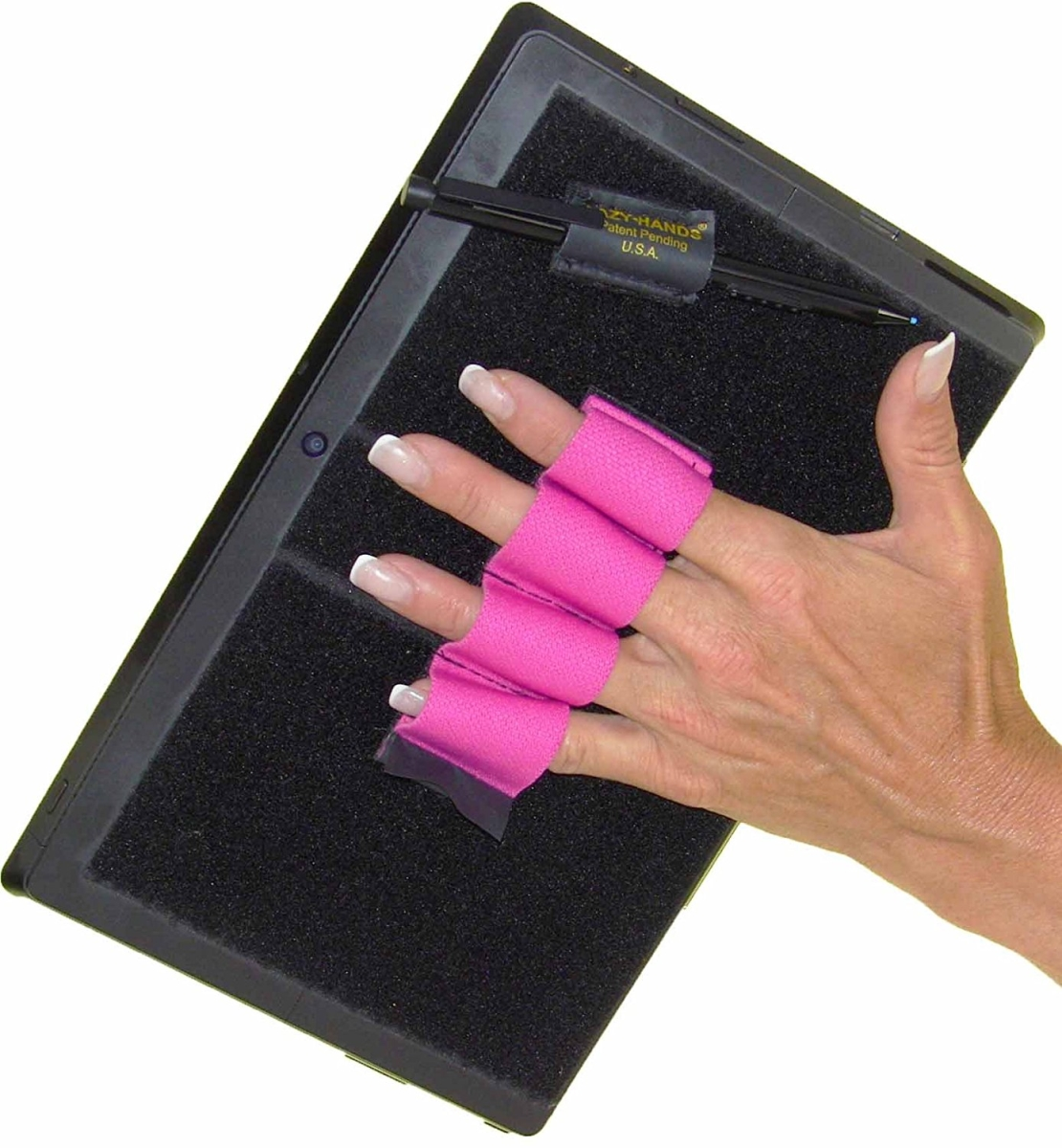 Lazy-Hands 201583 4-Loop Grip for Microsoft Surface with Stylus Grip-Fits Most Pink