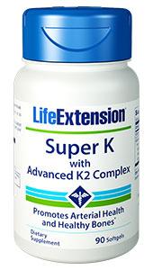 Life Extension 1724 Super K with Advanced K2 Complex 90 Softgels