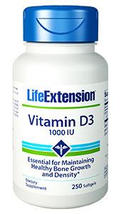 Life Extension 1751 Vitamin D3 1000 IU 250 Softgels
