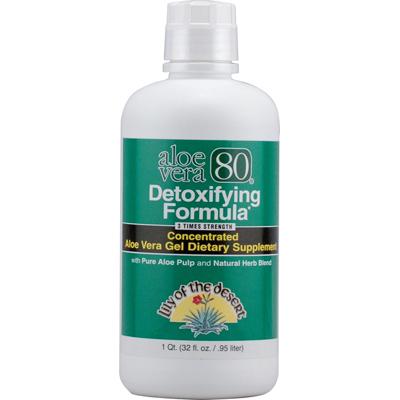 Lily Of The Desert Aloe Vera 80 Detoxifying Formula - 32 Fl Oz