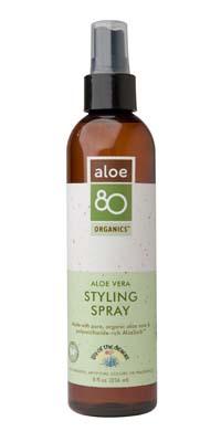 Lily of the Desert Aloe 80 Organics Styling Spray Aloe Vera 8 fl. oz. Hair Care 220459