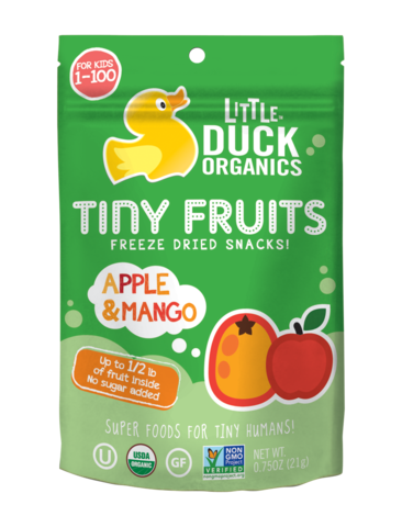 Little Duck Organics 0.75 Ounce Apple & Mango Tiny Fruits
