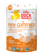 Little Duck Organics 3 Ounce Orange Carrot & Goji Tiny Gummies
