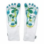 Living Health Products mosi-soc-art-1 Reflexology Socks Moisturizing socks - Gel Booties (1 Pair)
