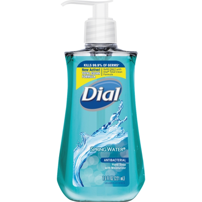 Lorell DIA02670 7.5 oz Antibacterial Hand Soap with Moisturizer Spring Water