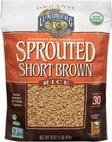 Lundberg Family Farms 16 Ounce Organic Brown Short Grain Rice