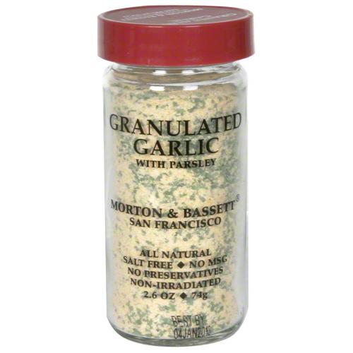 MORTON & BASSETT GARLIC GRANULATED-2.6 OZ -Pack of 3