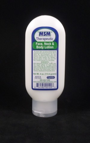 MSM Health Solutions 171 4 oz Therapeutic Face Neck & Body Lotion Tube
