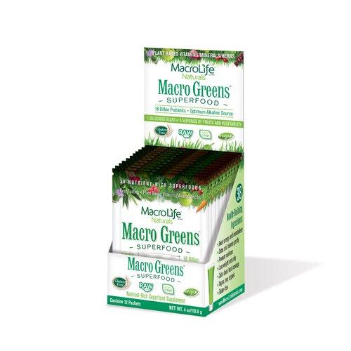 Macrolife Naturals 0766675 Macro Greens Original Pack of 12