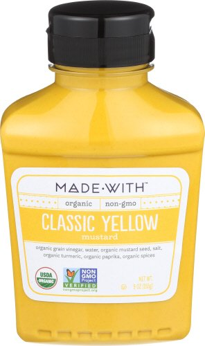 MadeWith 276970 9 oz Yellow Organic Mustard Pack of 6