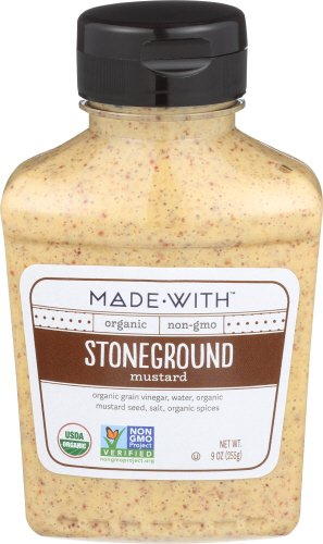 MadeWith 276983 9 oz Stoneground Organic Mustard Pack of 6