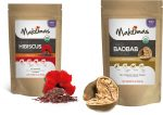 Makomas KMS-0210 Organic Baobab Fruit Powder & Organic Dried Hibiscus Flowers
