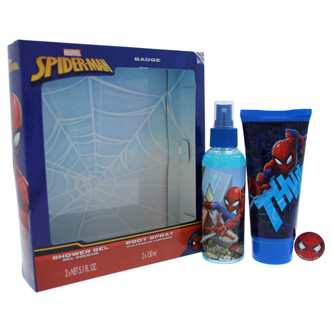 Marvel K-GS-2098 Spider Man Body Spray & Shower Gel Gift Set for Kids - 3 Piece
