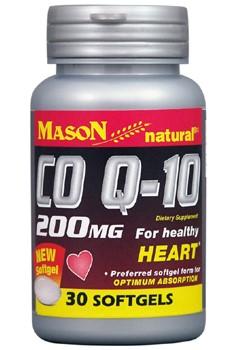 Mason Naturals 1842699 CO Q-10 - Natural 200 Soft Gels