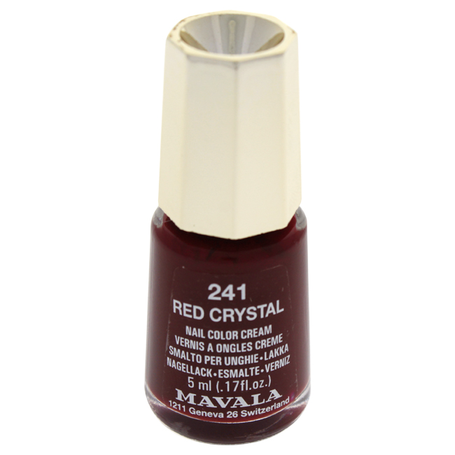 Mavala W-C-13919 Nail Lacquer No. 241 - Red Cristal Nail Polish for Women 0.17 oz