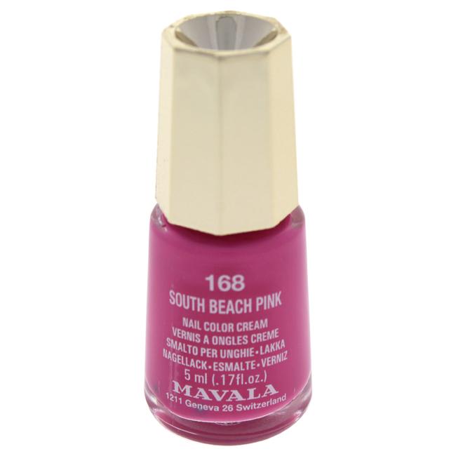 Mavala W-C-13946 Nail Lacquer No. 168 - South Beach Pink Nail Polish for Women 0.17 oz
