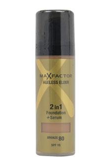 Max Factor 30 ml Ageless Elixir 2in1 Foundation Plus Serum SPF 15 - No. 80 Bronze