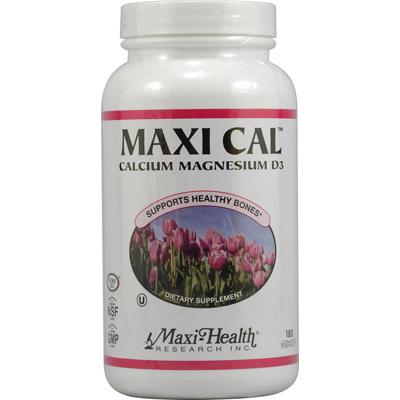 Maxi Health Kosher Vitamins 0423491 Maxi Cal Calcium Magnesium D3 - 1000 mg - 180 Capsules