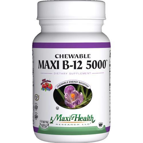 Maxi Health Kosher Vitamins Maxi B12 5000 - Chewable - 60 Tablets - 1510924