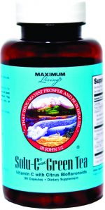 Maximum Living 548002 Solu-C with Green Tea 120 Capsules