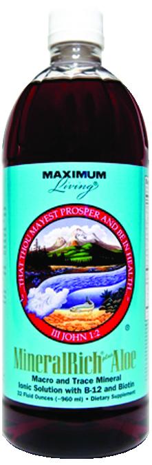 Maximum Living 548031 32 oz MineralRich Plus Aloe