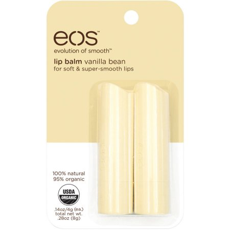 Merchandise 0320005 Eos Vanilla Bean Lip Balm Smooth Stick Set White - Pack of 2
