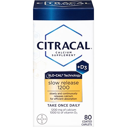 Merchandise 0808946 Citracal with Calcium D Slow Release 1200 80-Count