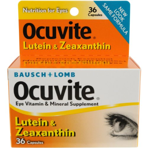 Merchandise 1878387 Bausch & Lomb Eye Vitamin & Mineral Supplement Lutein & Zeaxanthin Capsules 36 Count