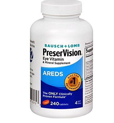Merchandise 1878492 Bausch & Lomb Preservision Eye Vitamin & Mineral Supplement Areds 240 Tablets
