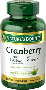 Merchandise 1890794 Natures Bounty Cranberry with Vitamin C 4200 mg 250 Softgels