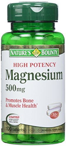 Merchandise 1891081 Natures Bounty Magnesium Oxide High Potency 500 mg 100 Tablets